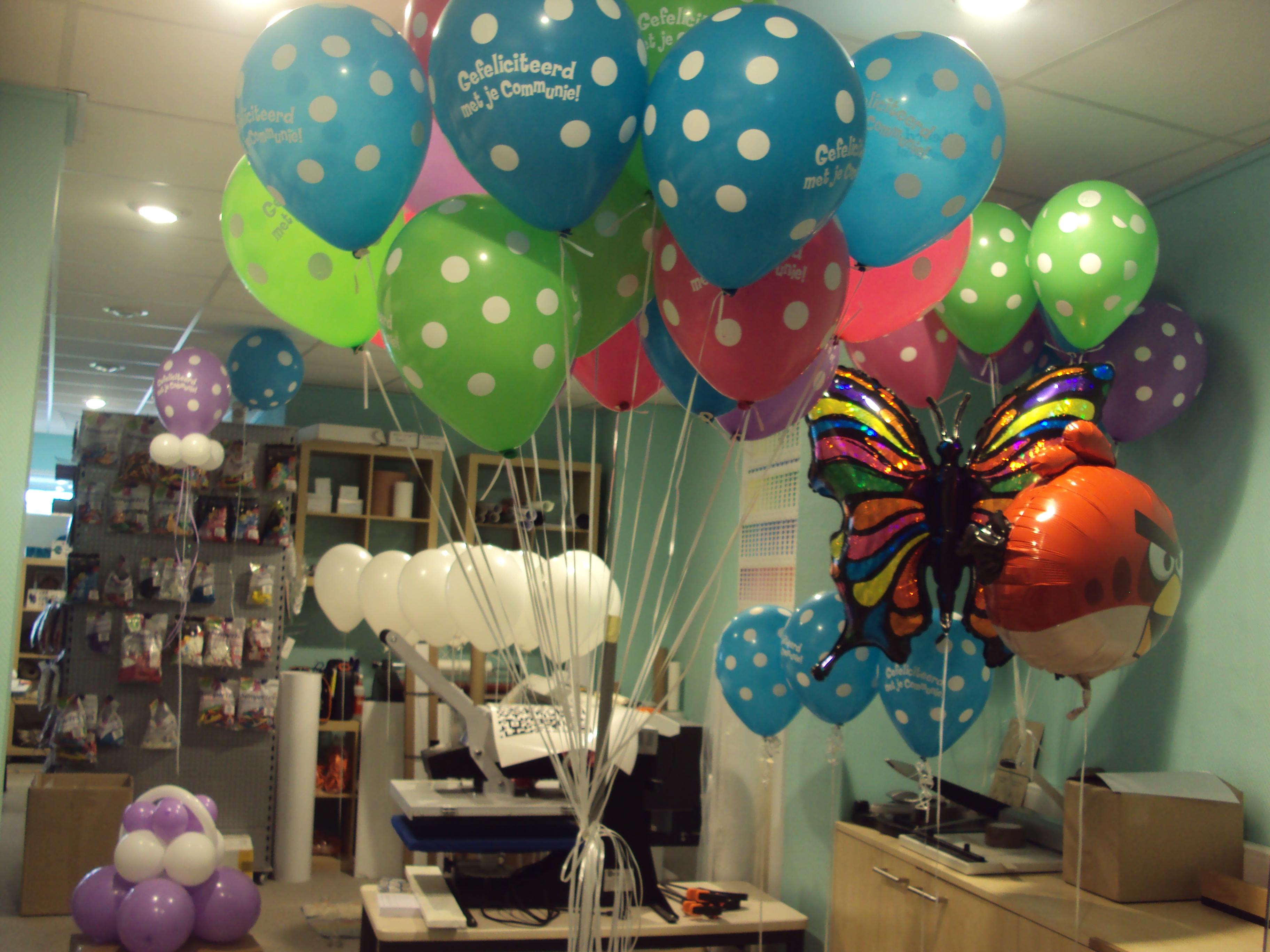 Ballonnen turboprint for Decoratie verjaardag